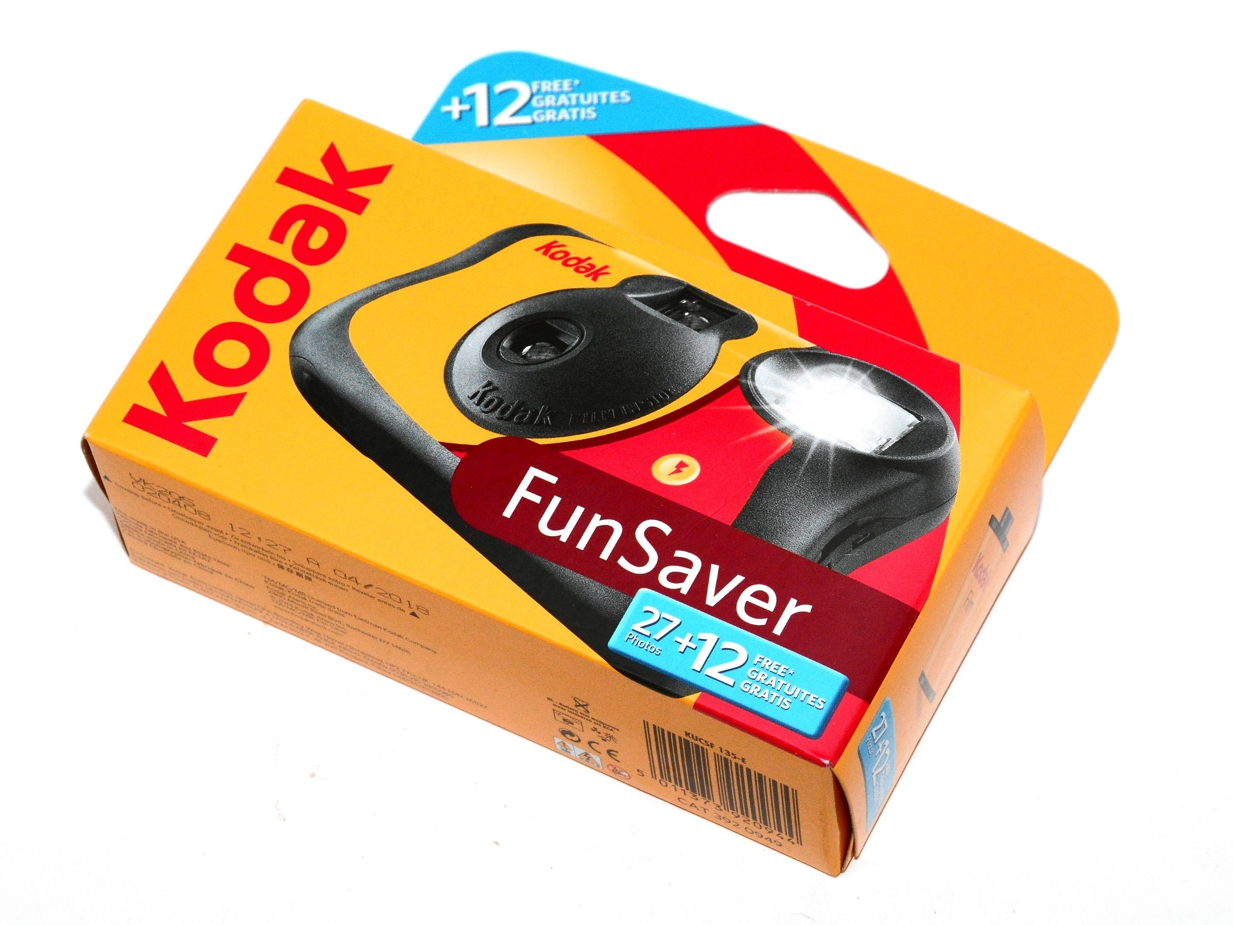 Kodak aparat Fun Saver Flash 400/39 wakacja 07.19