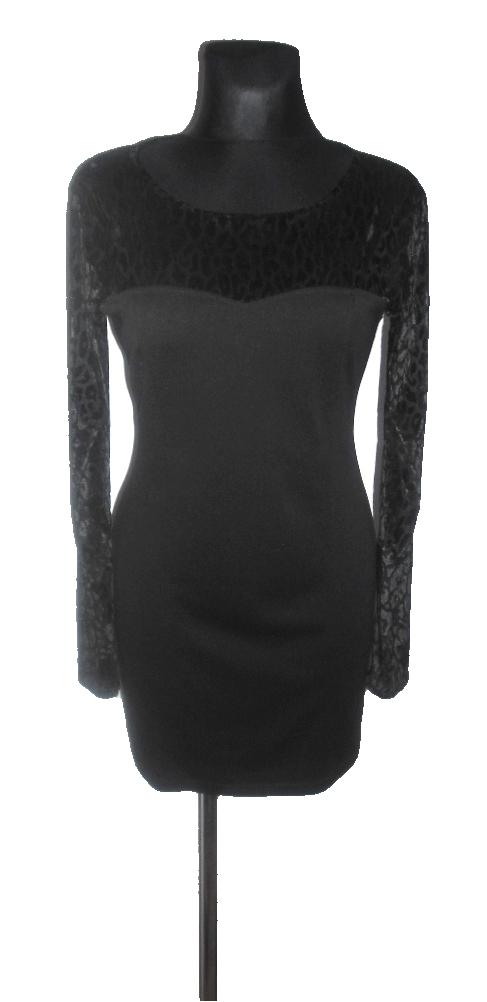 4e631820d9 PRETTY GIRL czarna sukienka ołówkowa r 38 40 - 7172212280 - oficjalne  archiwum allegro