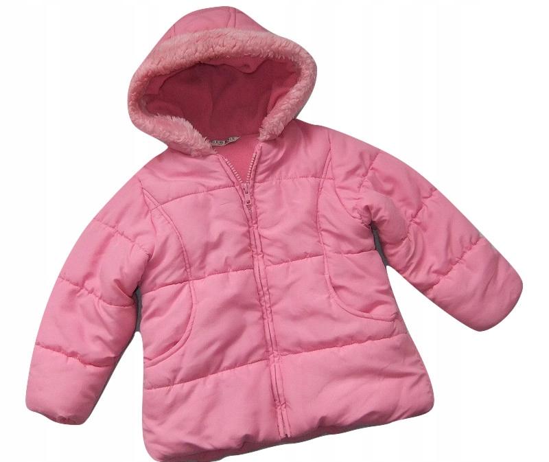 Różowa ciepła kurtka z kapturem_104cm_GEORGE