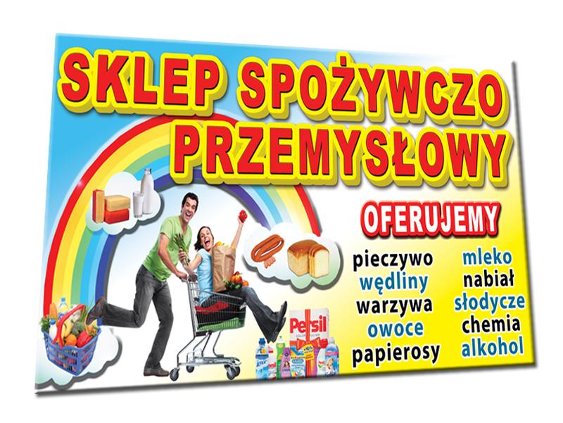 Dodatkowe BANER REKLAMA SZYLD sklep spożywczy owoce warzywa - 7082908113 HS49