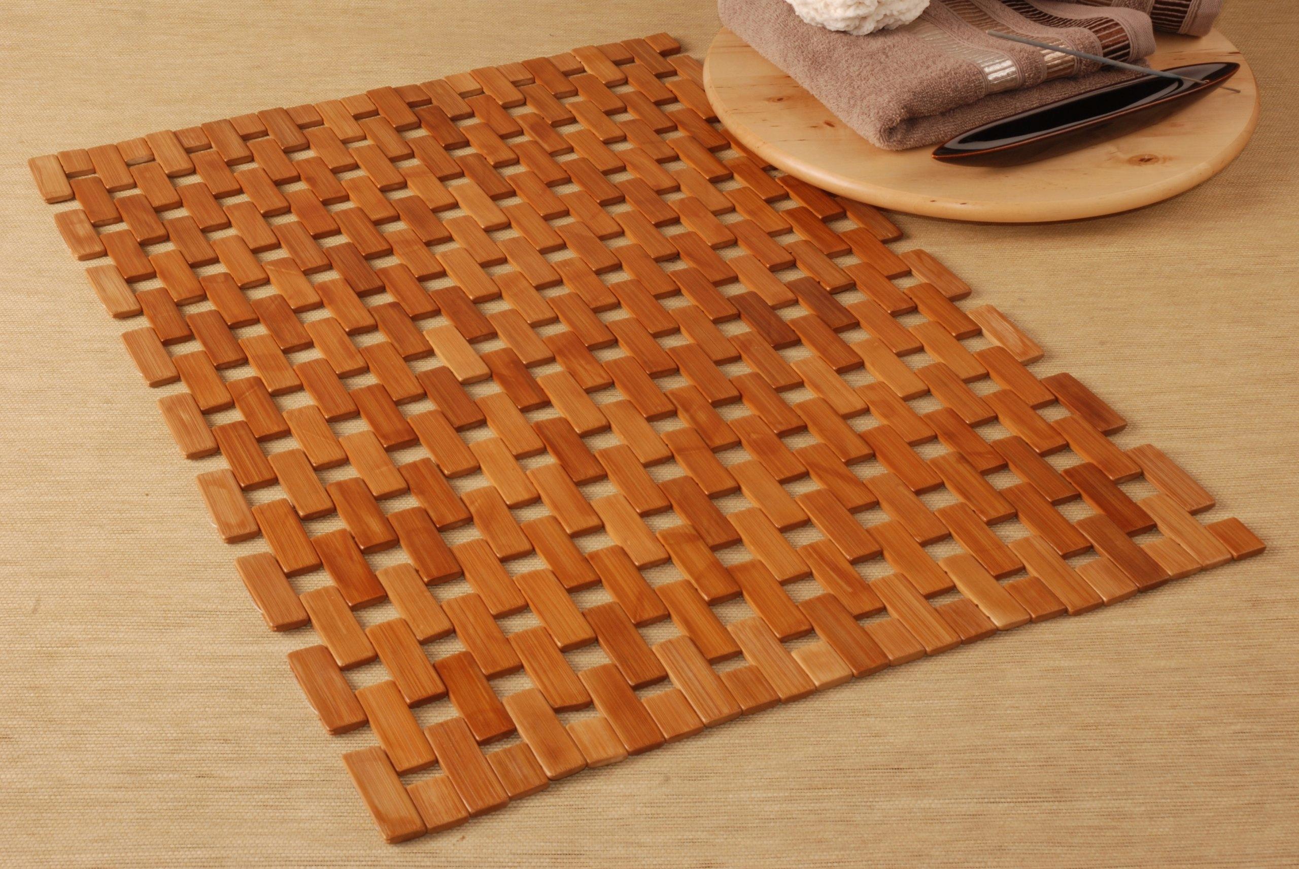 Mata Drewniana Bambusowa Do Sauny łazienki 50x70