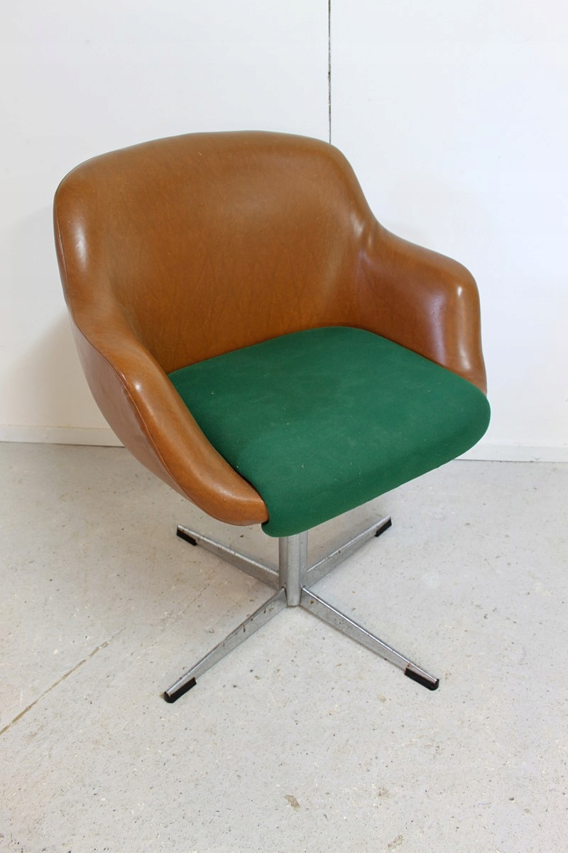 Unikat Fotel Obrotowy Do Biurka Retro Vintage Prl