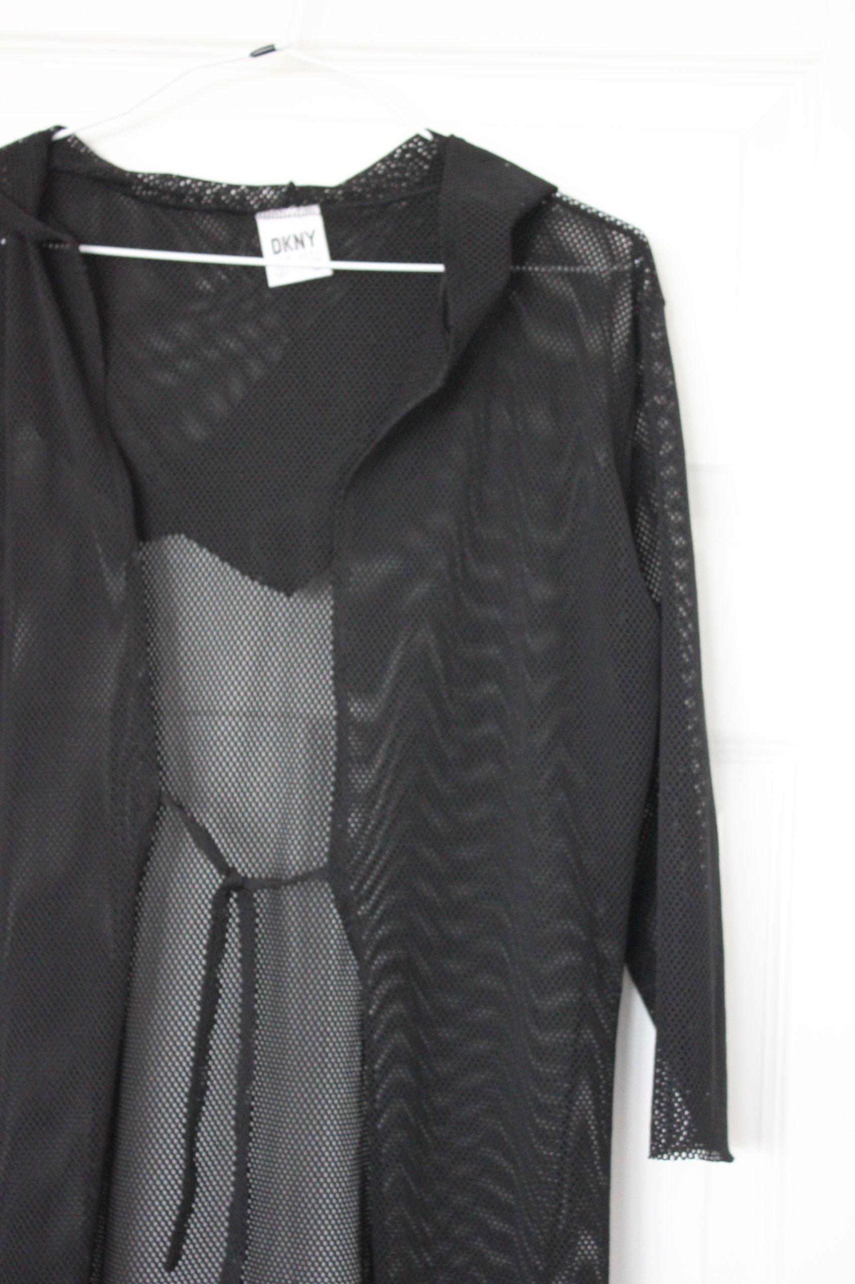 7cf76f5139f9a DKNY bluza czarna z kapturem 38 - 7074917080 - oficjalne archiwum allegro