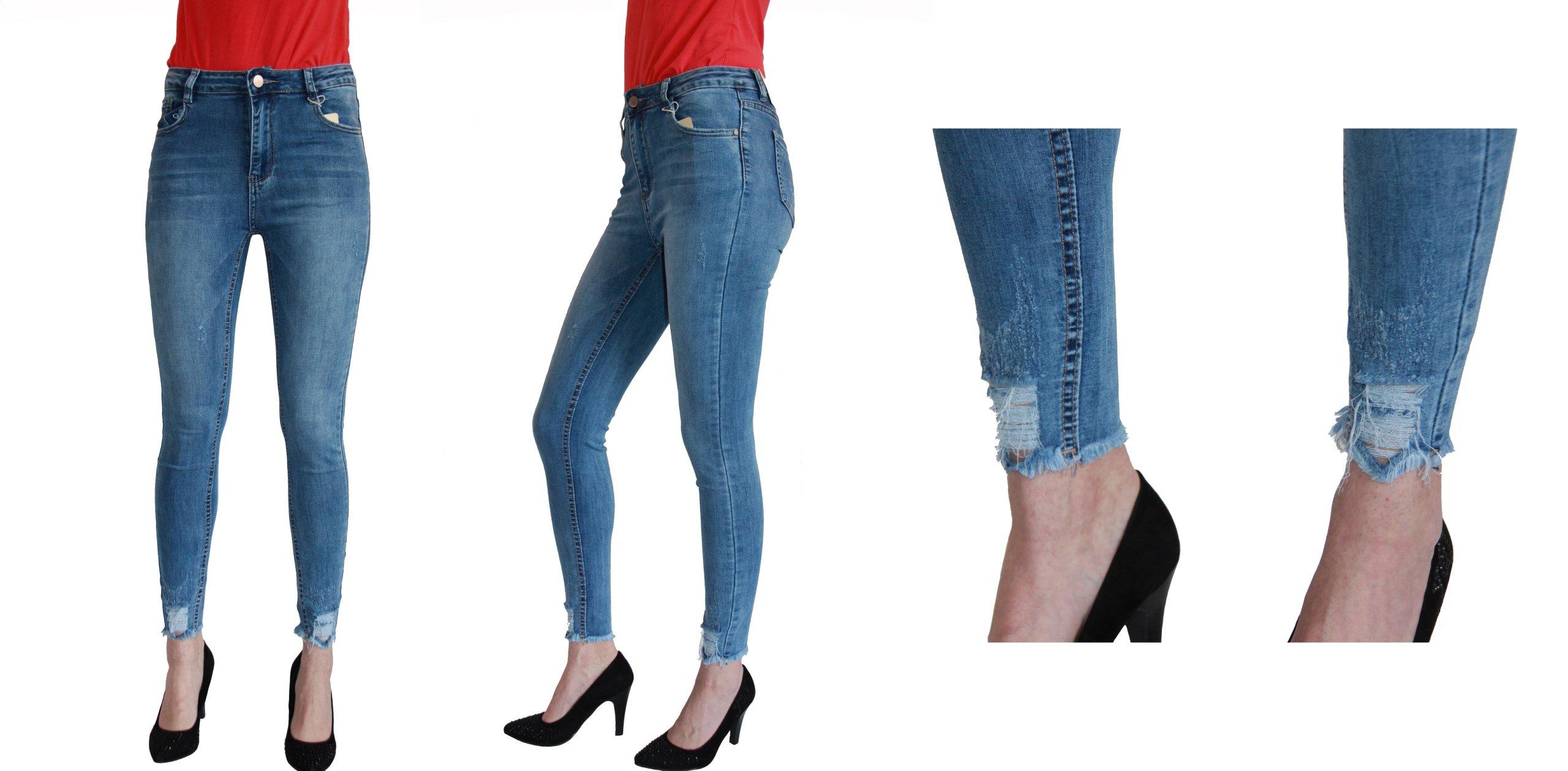 eeb3832ac112c0 Jeans spodnie b. wysoki stan rurki jasne (34-42)38 - 7262157340 ...