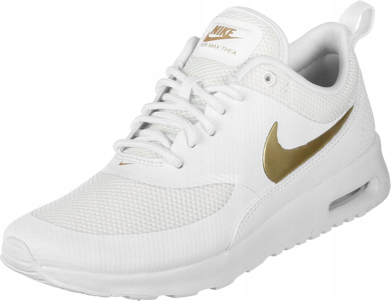 012 Nike Air Max Thea Biało Złoty 41