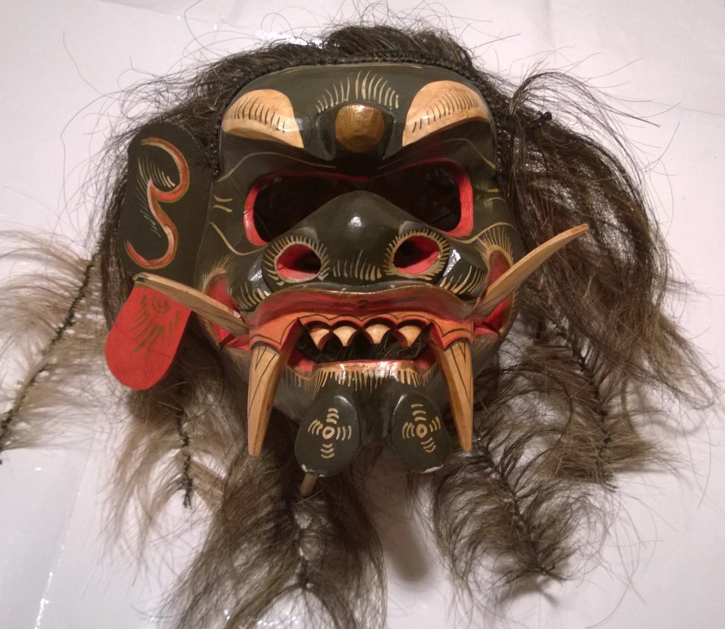 Drewniania maska chińska japońska