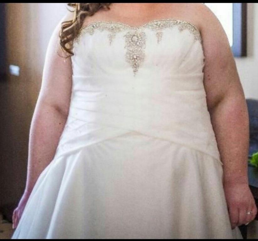 0bf9b2e69c suknia ślubna Agnes Plus Size - 7581101515 - oficjalne archiwum allegro