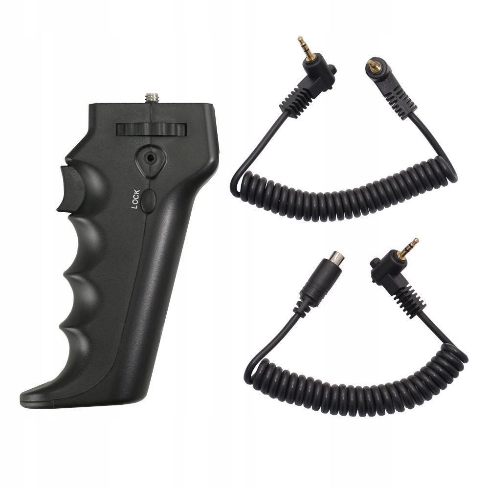 Uchwyt pistoletu zdalnego JJC HR-DV z 2 kablami dl