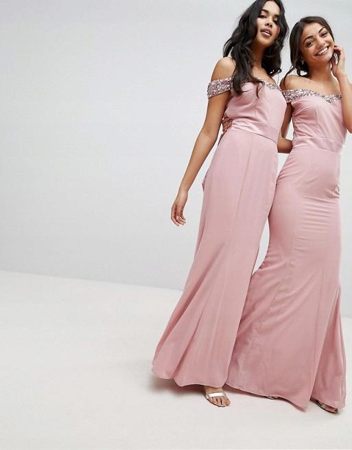 1c26e4f5e5 B854 MAYA TALL różowa sukienka maxi cekiny 42 - 7708095140 ...