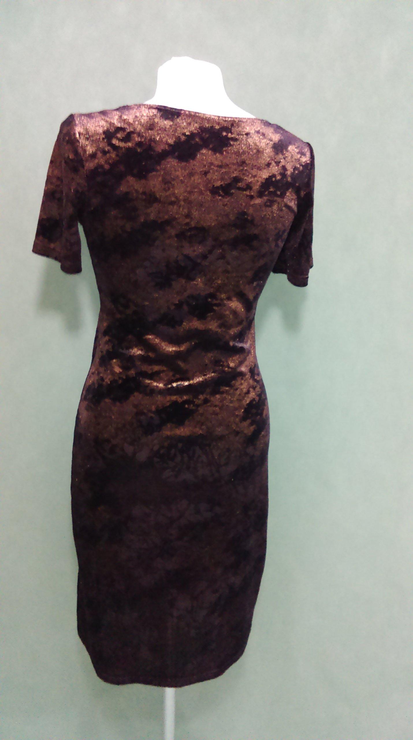 ce63a16e40 Sukienka czarna błyszcząca złotem XS a la plusz - 6932762788 ...