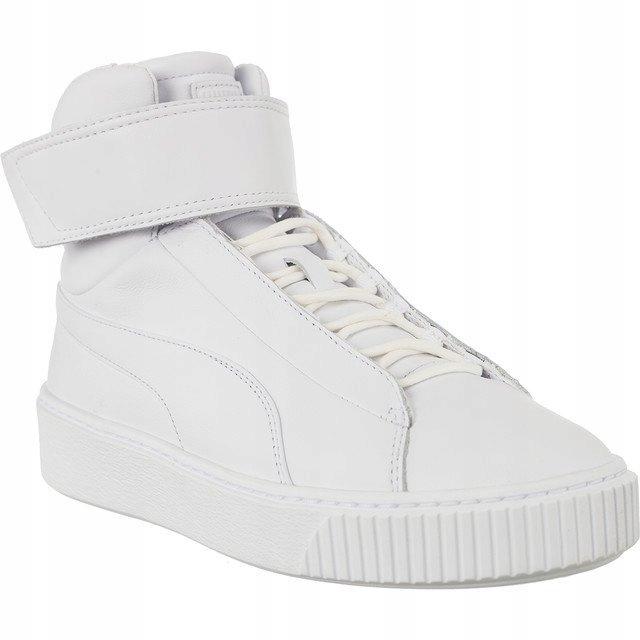 Białe Skórzane Buty Damskie Sportowe Puma r.38,5