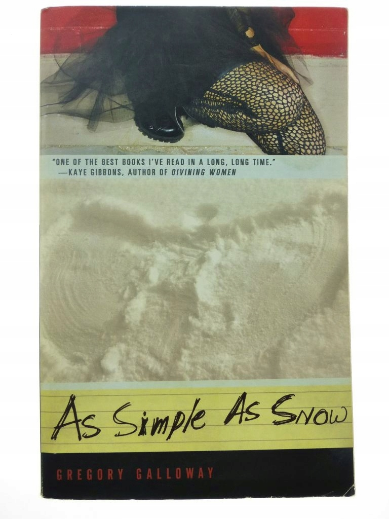 As Simple As Snow - Gregory Galloway /B4401/
