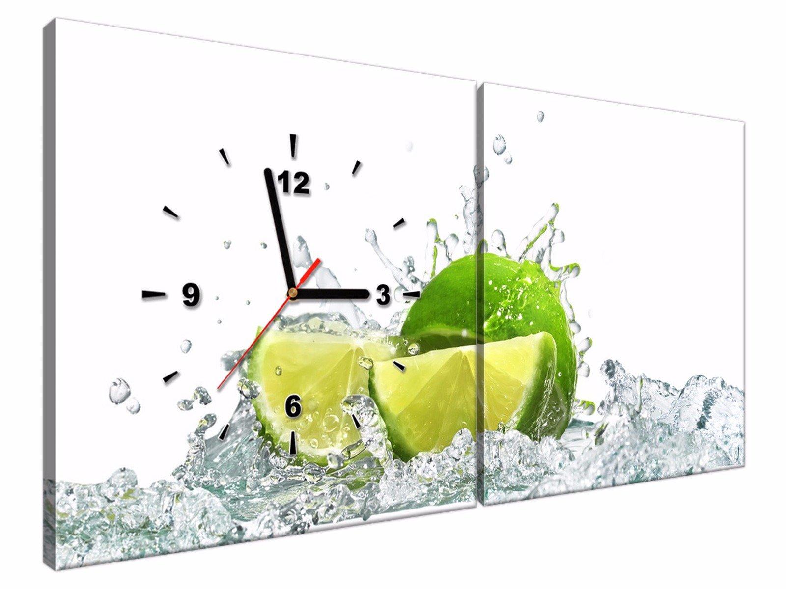 Zegar ścienny Do Kuchni 80x40 Obrazy Modne 1160 6587729859