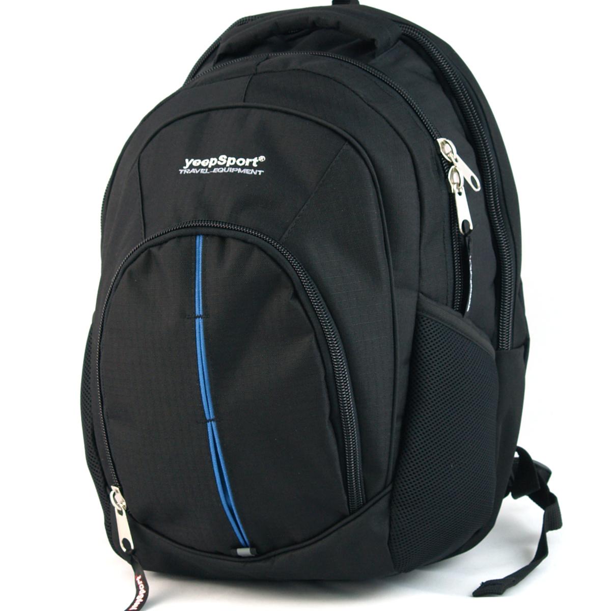 5cfc713940a2f Duży plecak 3-komorowy yeepSport S112 czarny-nieb - 7238122362 ...