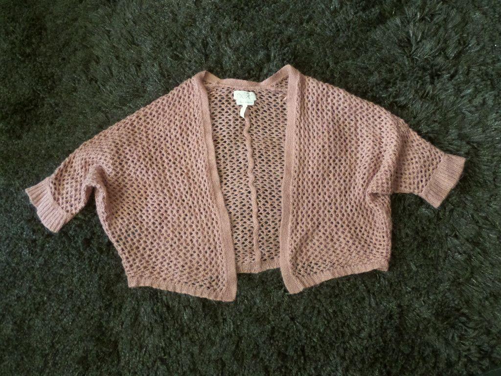 ażurowy sweterek bolerko H&M rozm.S