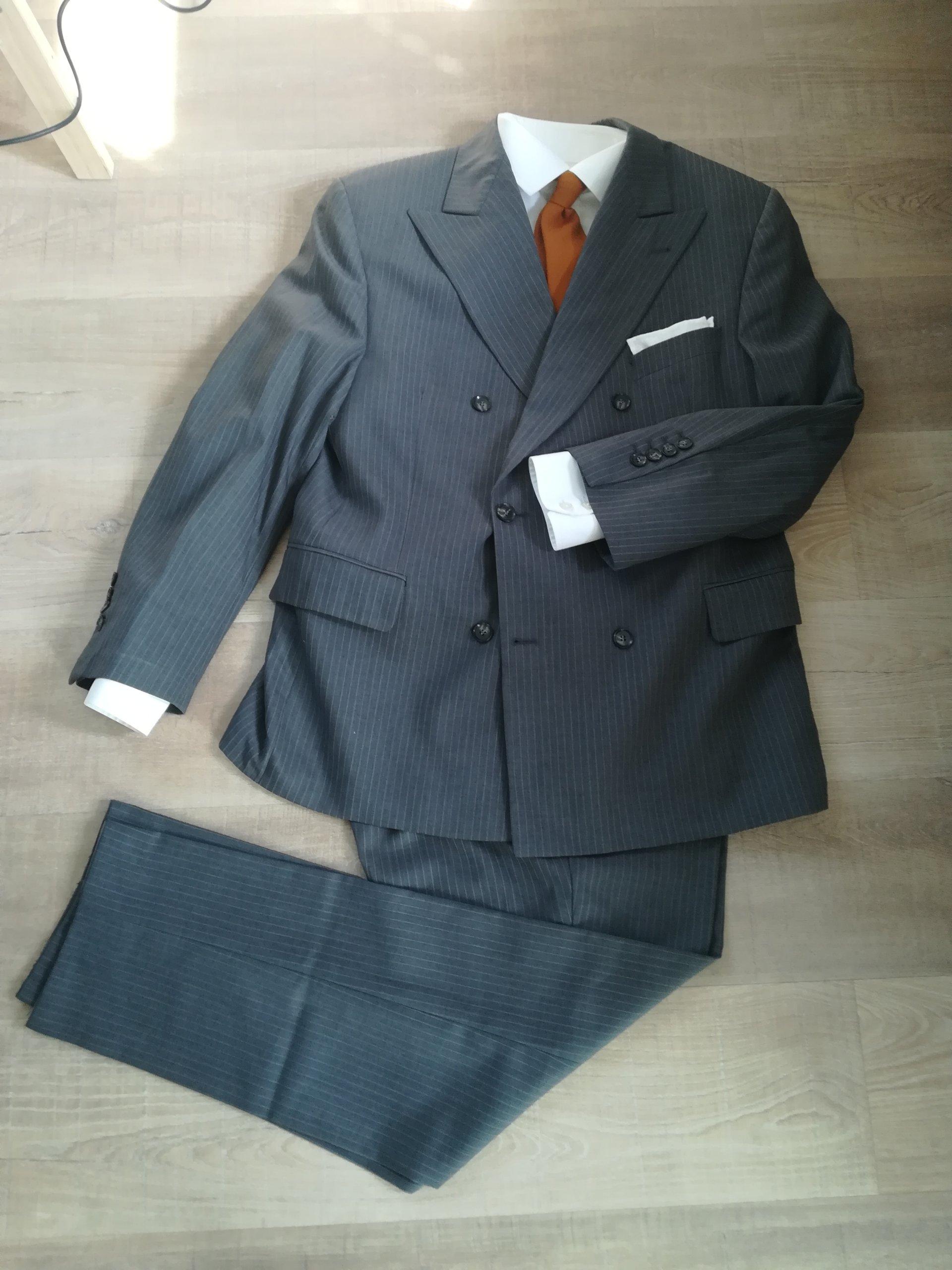20e11d8a87f5c Biznesowy szary garnitur rozmiar 50/M - 7274463109 - oficjalne ...