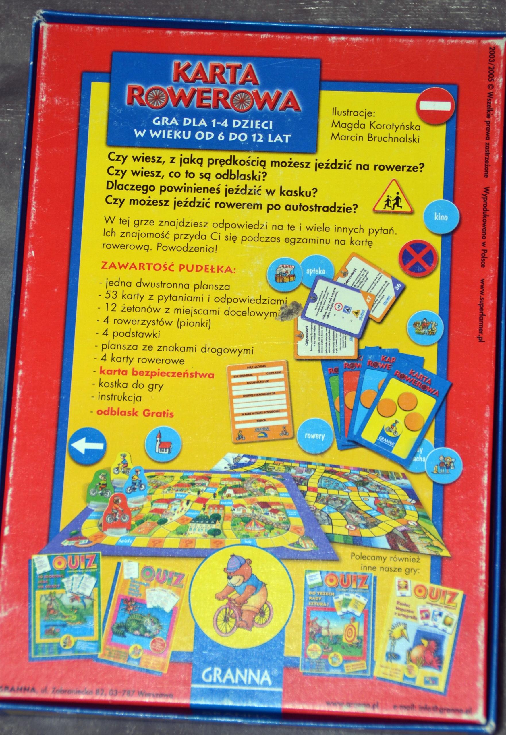 Karta Rowerowa Quiz Gra Edukacyjna Dla Dzieci 7478978688