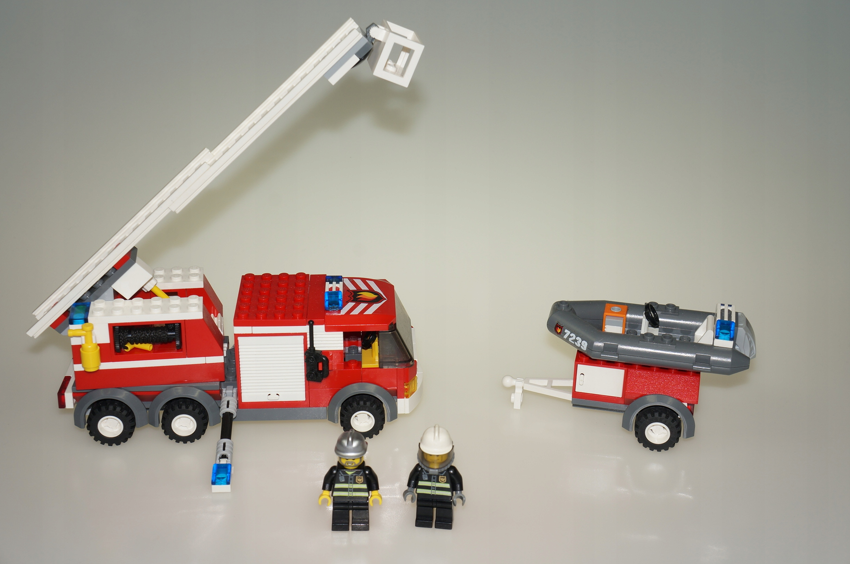Lego City Straż Pożarna Wóz Strażacki 7239 7099638683 Oficjalne