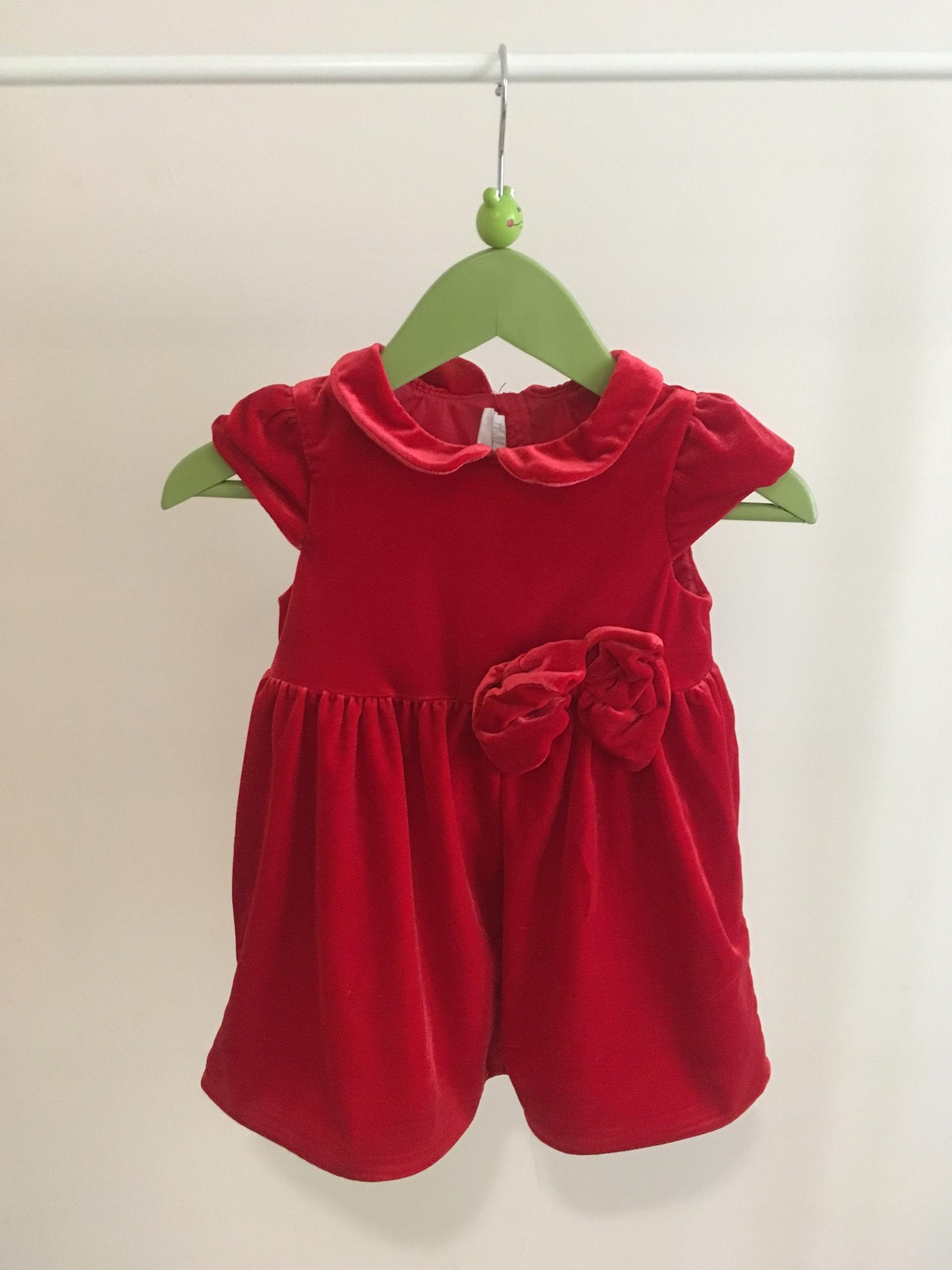 52da7c173a Sukienka dla dziewczynki 110 104 98 92 86 czerwona.  Czerwona sukienka  H amp M Rozmiar  ...