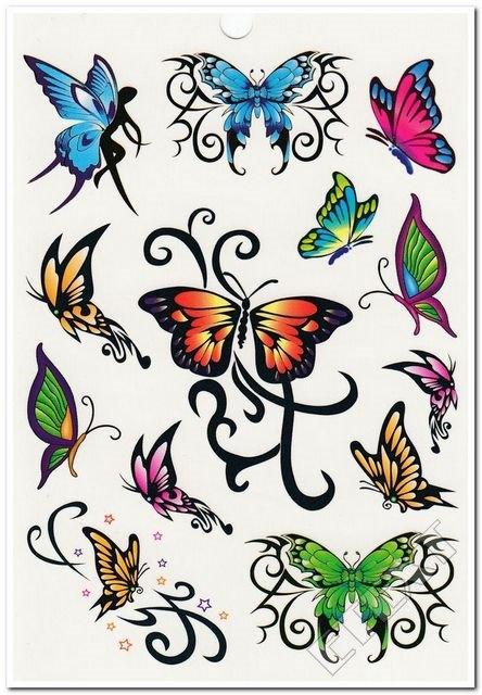 Tatuaż Tatuaże Dla Dzieci Motylki Motylek Motyle