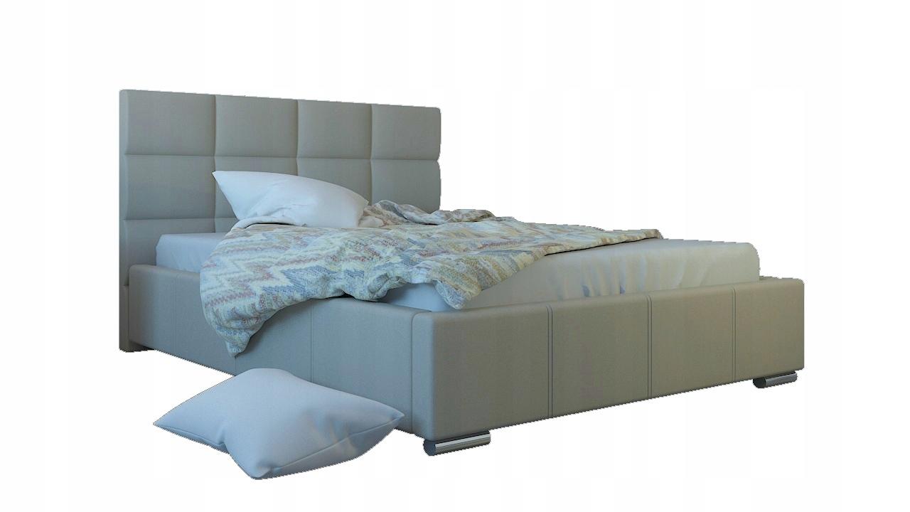 łóżko Tapicerowane Piero 140x200 Stelaż Wys 120 Cm 7249542663