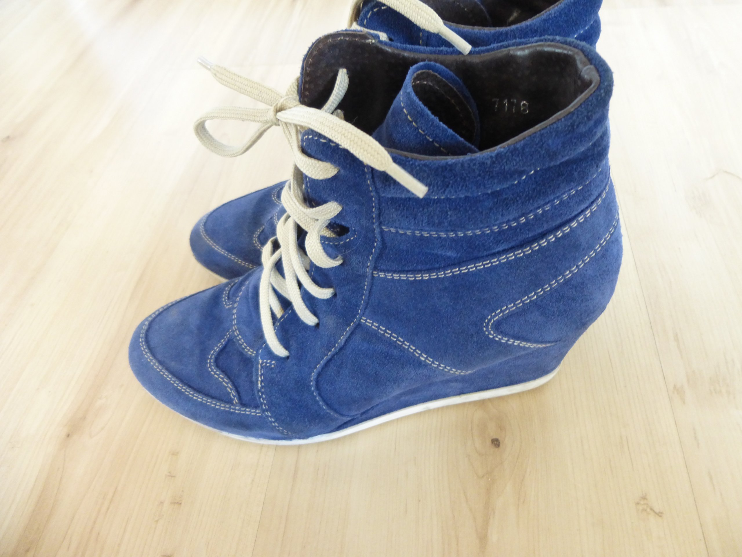 3a95272ef9bb4 Sneakersy koturn Wojas skóra zamsz 37 super ideal - 7280743402 ...