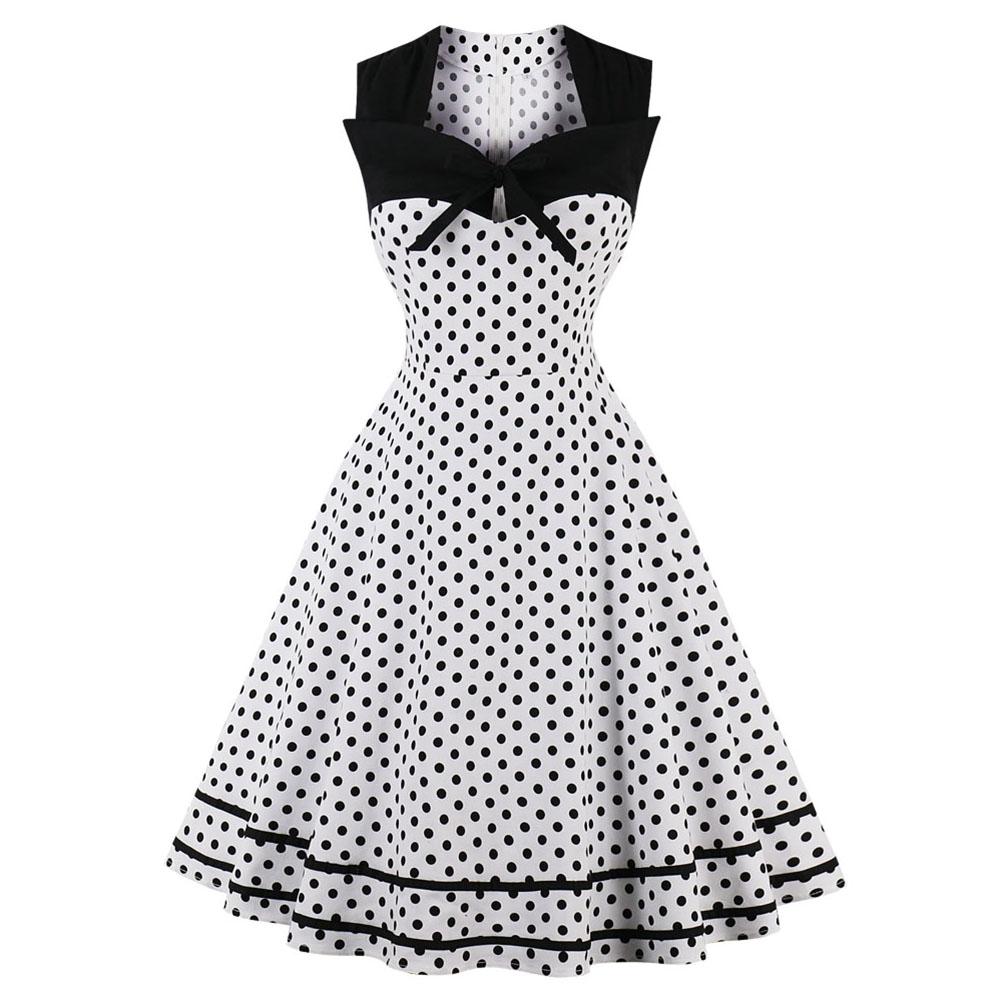 182c551b Sukienka PIN UP retro W GROSZKI z paskiem VINTAGE - 7686256889 ...