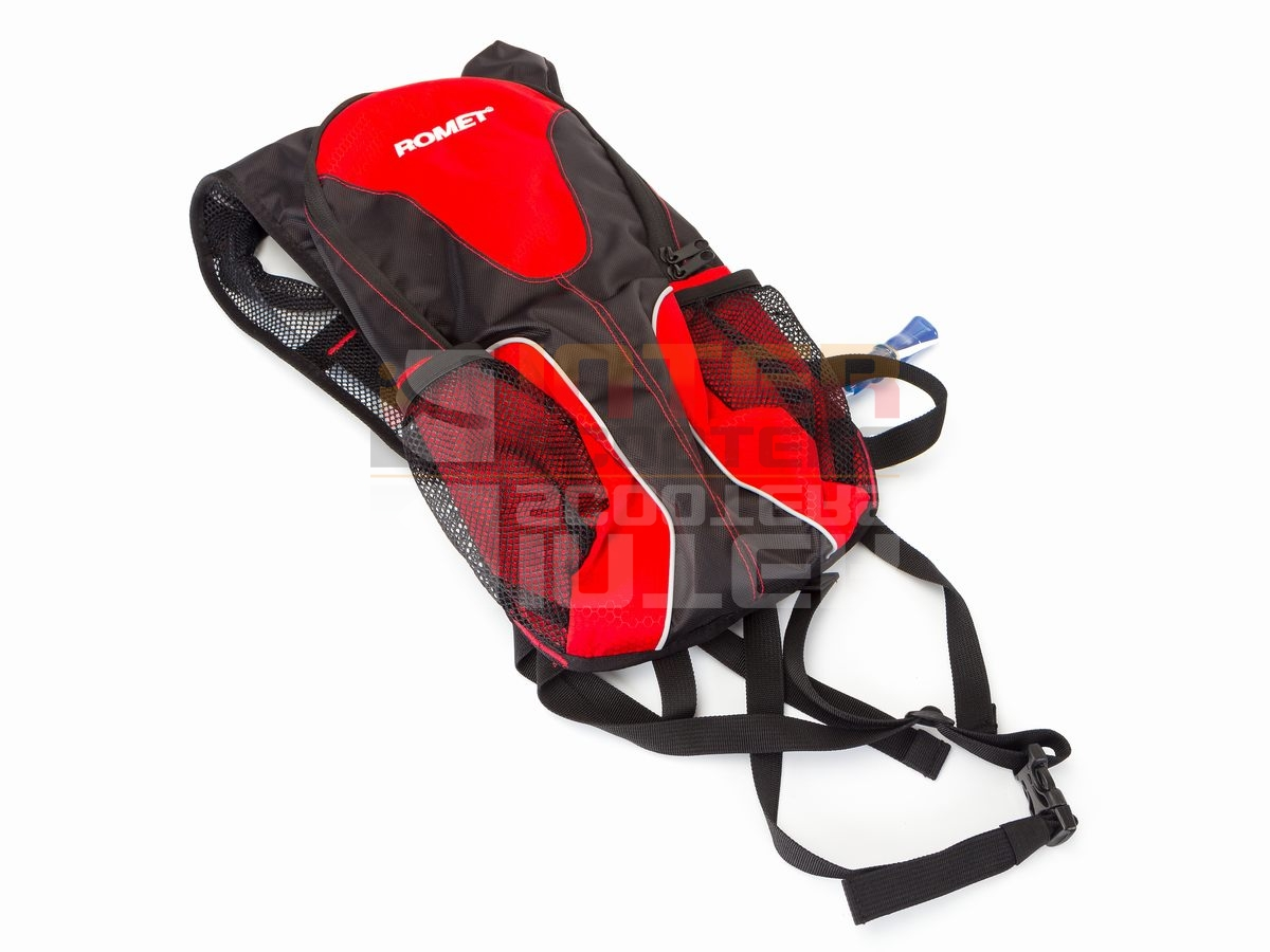 50b595e0c6ffc Plecak rowerowy AK-R czarno-czerwony + bukłak ROME - 6721371285 ...