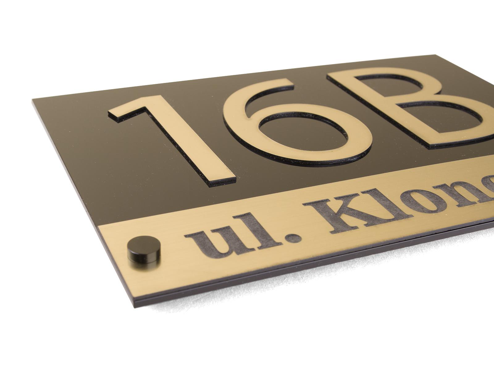 Cudowna TABLICZKA NA DOM TABLICA ADRESOWA NUMER 3D 29,5x19 - 7011152594 XM57