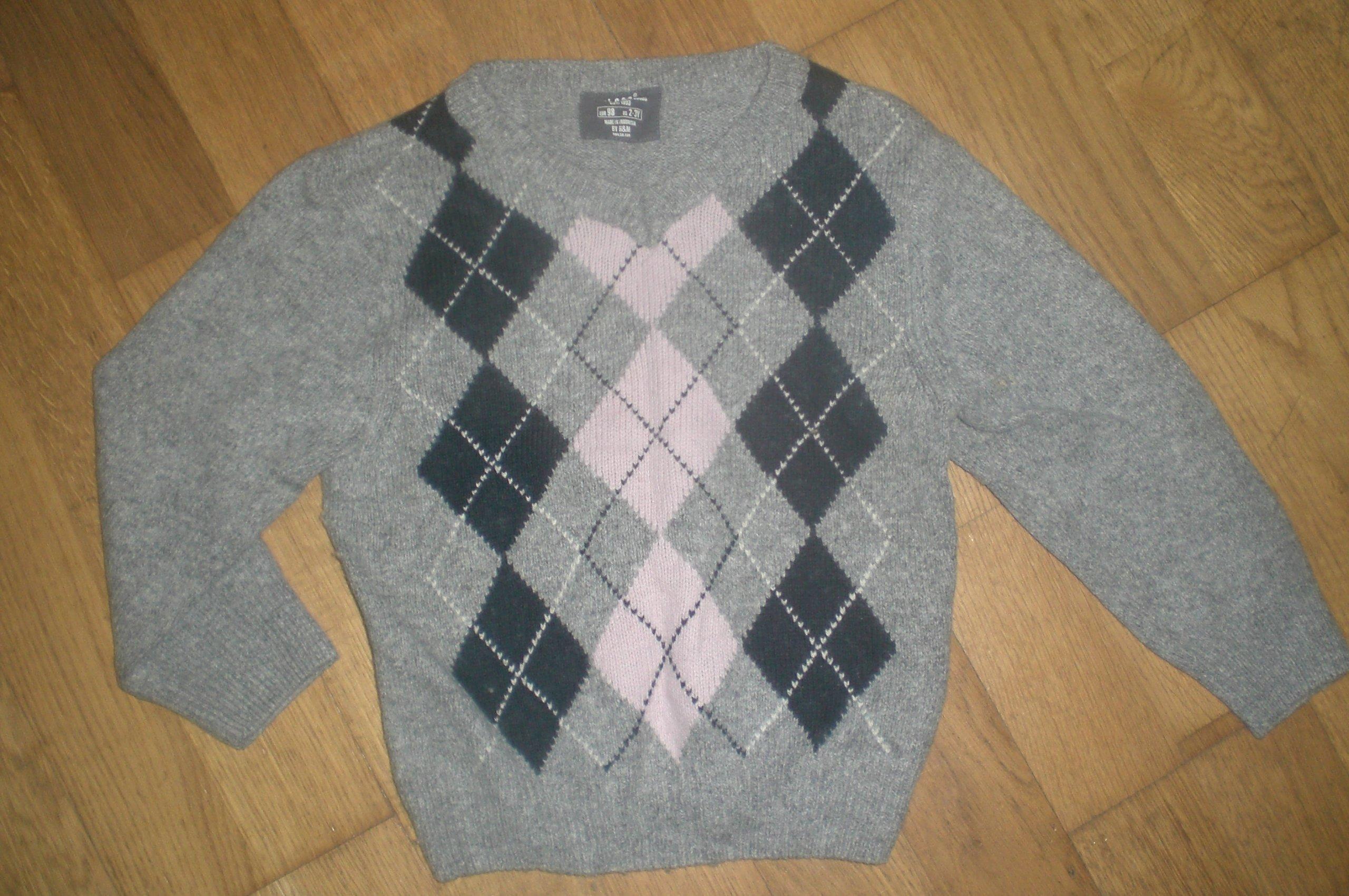 fb0bb78b1198d sweterek cłopięcy H&M 98 - 7654456857 - oficjalne archiwum allegro