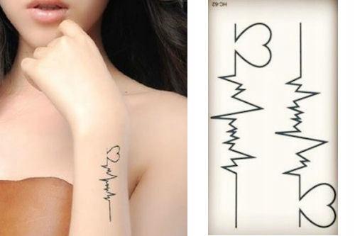 Hc057 Tatuaż Tymczasowy Puls Serca 7475371853 Oficjalne