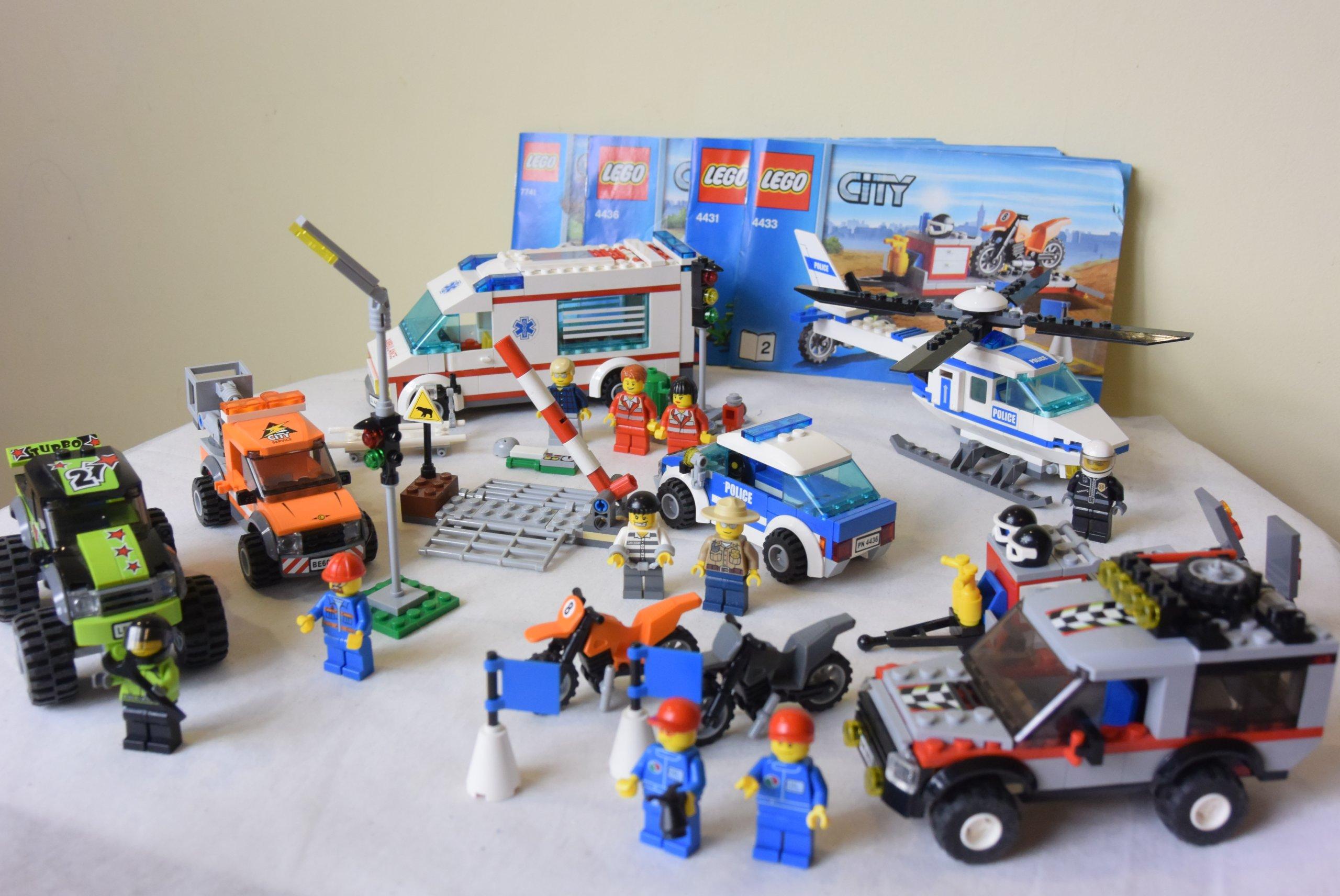 Klocki Lego City Mega Zestaw 6 Szt Karetka Policja 7081581496