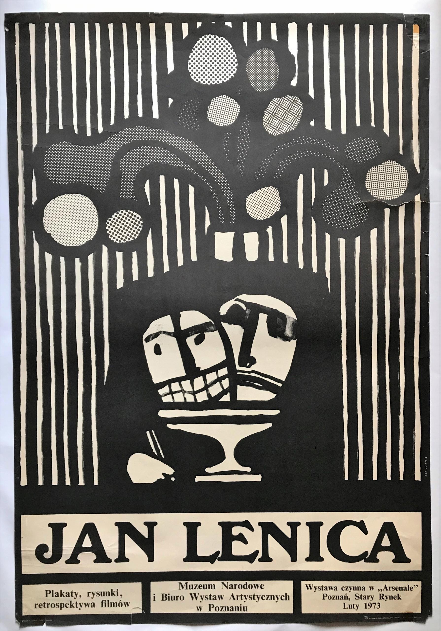Jan Lenica Plakat Wystawowy 1973