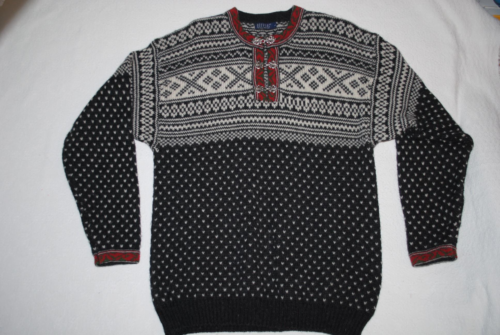 11d3fa9c38aa BOUVIAC góralski sweter WZÓR 100% WEŁNA XL - 7085831392 - oficjalne ...