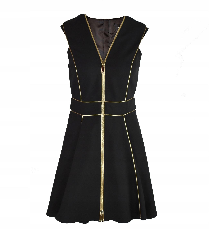 a66cb9c44 ELISABETTA FRANCHI sukienka czarna I44 M NOWOŚĆ - 7560101334 ...
