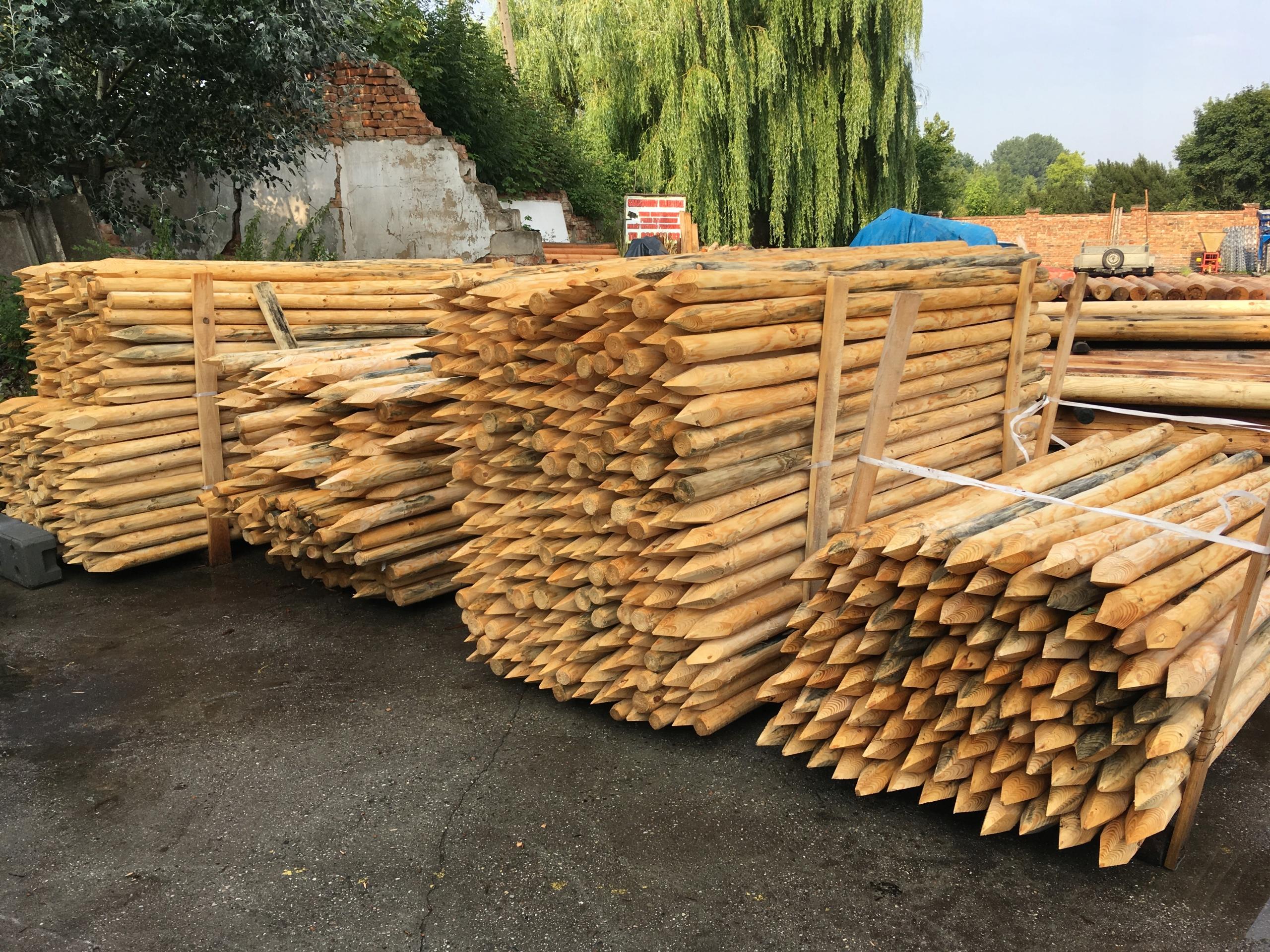 Słupki drewniane paliki do drzewek fi 6 ze Swadzim