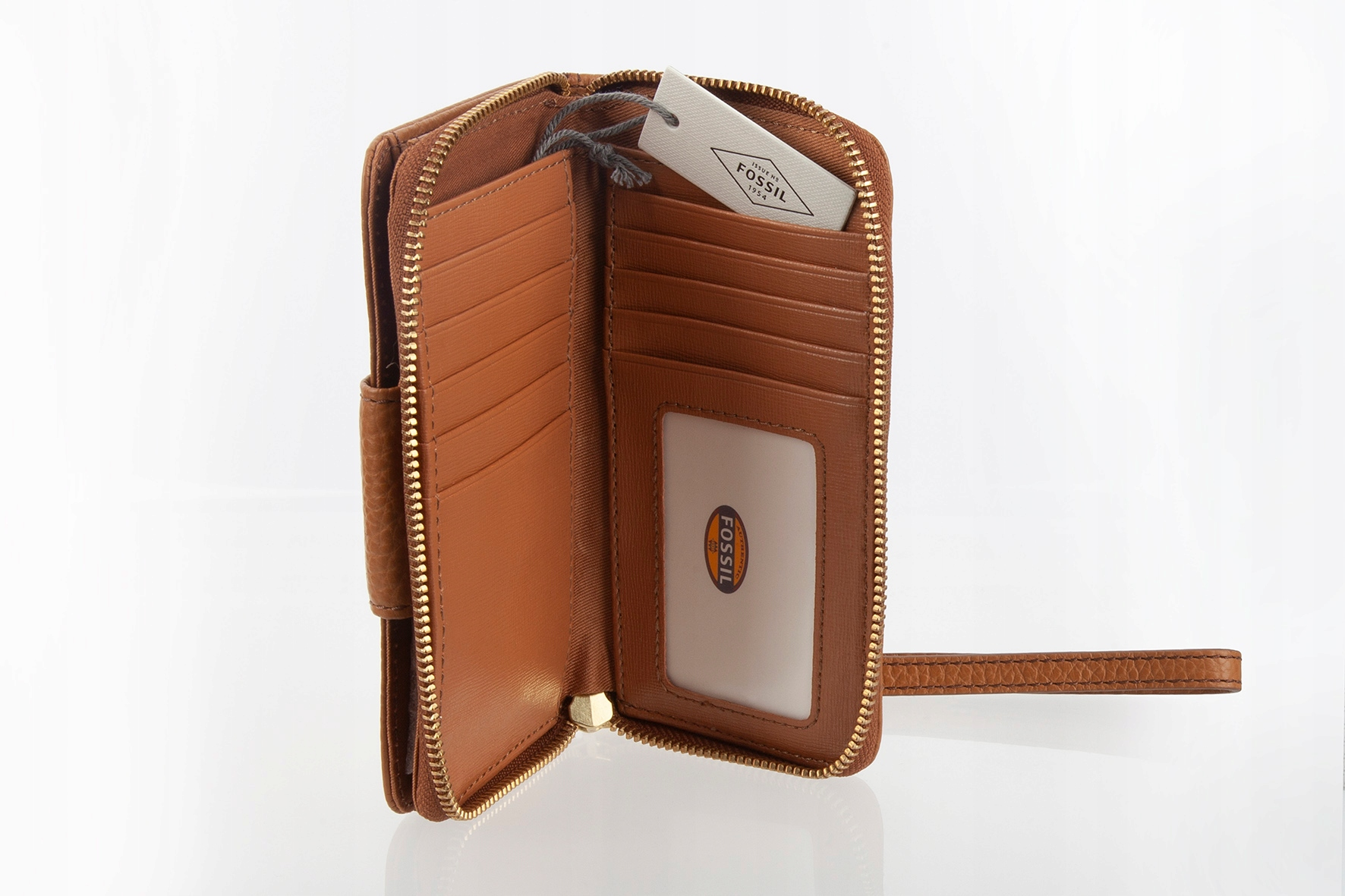 b6dc93ee1ec43 portfel damski FOSSIL brąz /saddle skóra Premium - 7641684262 ...