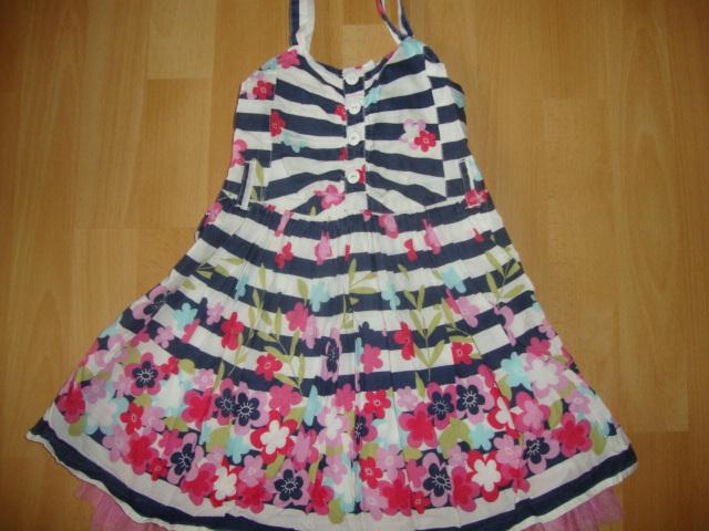 c99d4e53ca sukienka kwiaty paseczki dziewczynka 98 next - 7321310498 ...