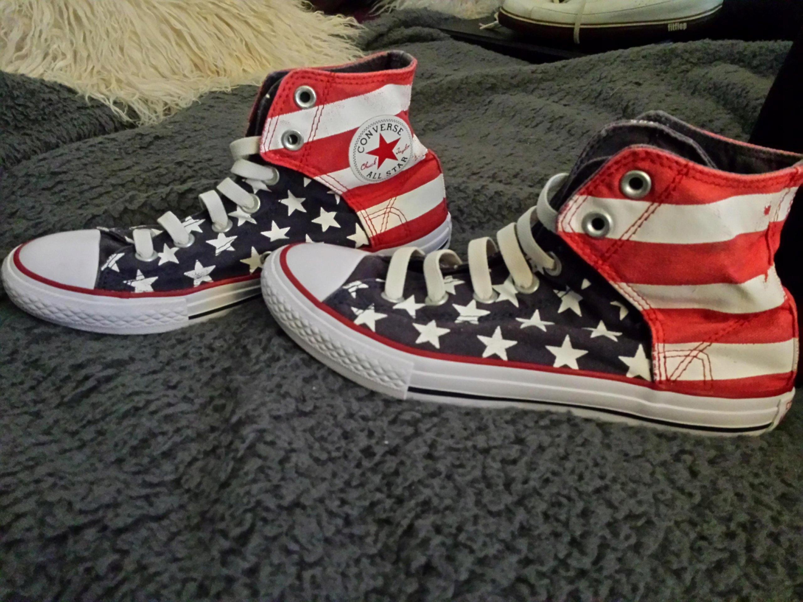 11d829d0 9. CONVERSE FLAGA USA TRAMPKI rozm. 36,5 - 7560662104 - oficjalne ...