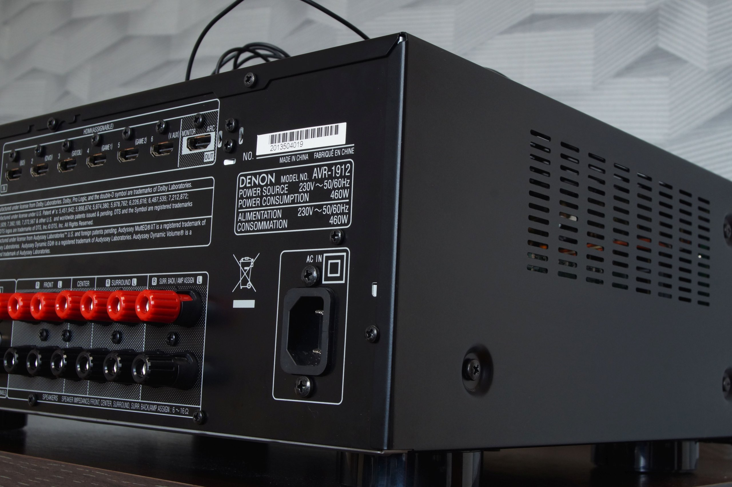 Amplituner 7 1 Denon AVR-1912 USB Net 3D Myślenice