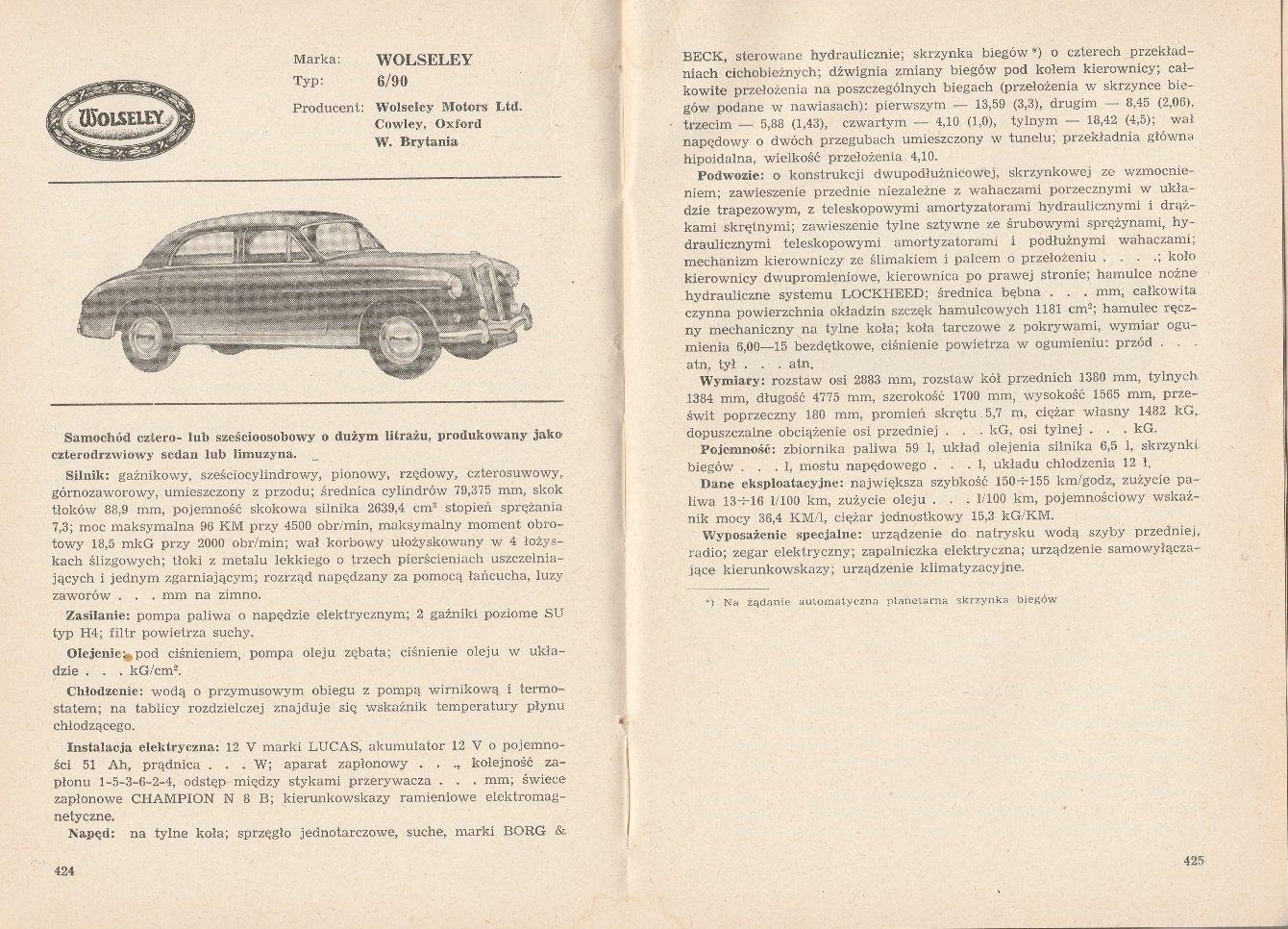 Samochody Osobowe 1956 1958 Opisy Techniczne Srl 7386119412