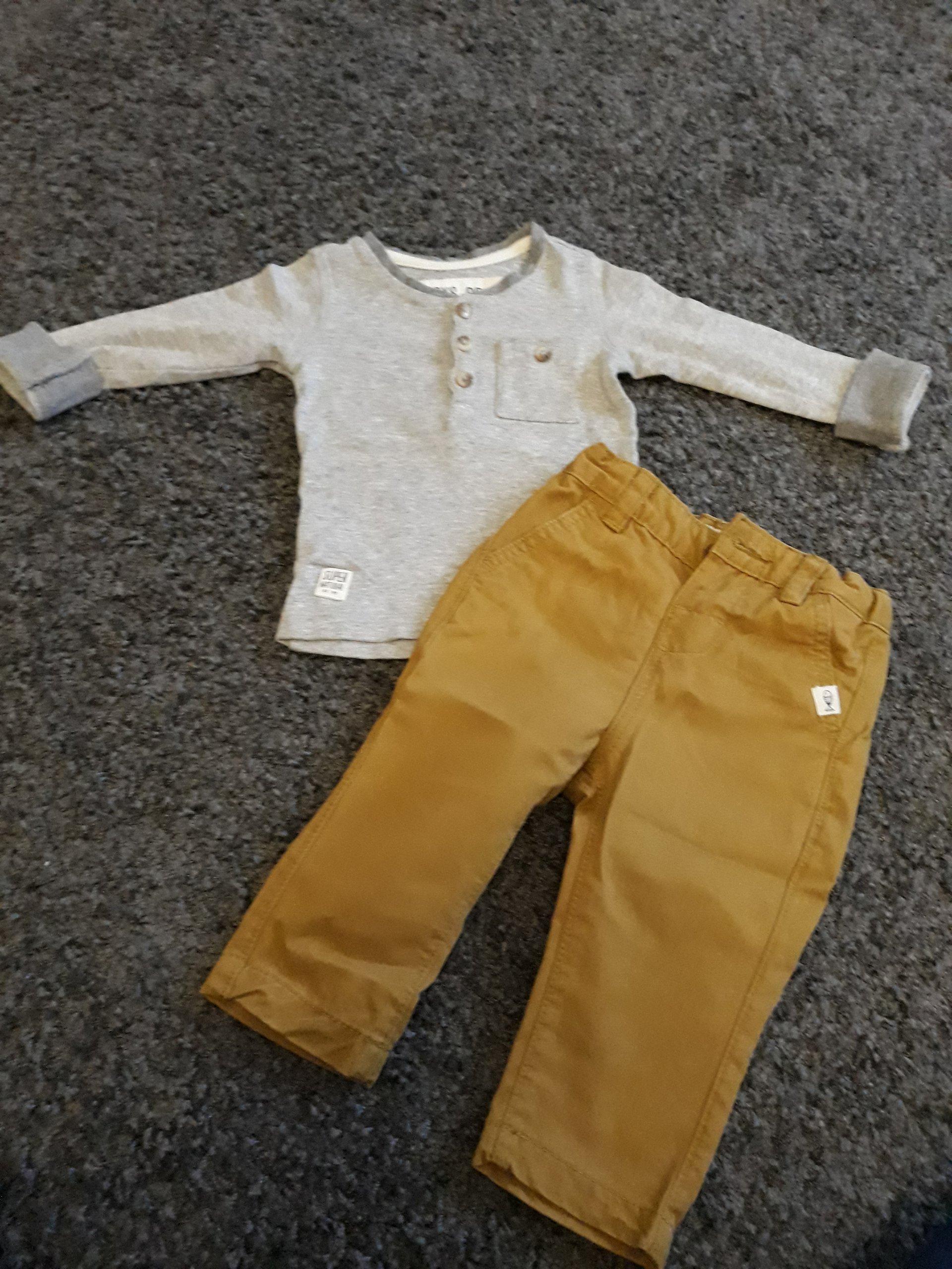 508ff1f69dbe1 Reserved komplet spodnie + bluzka w rozmiarze 68 - 7279206285 ...