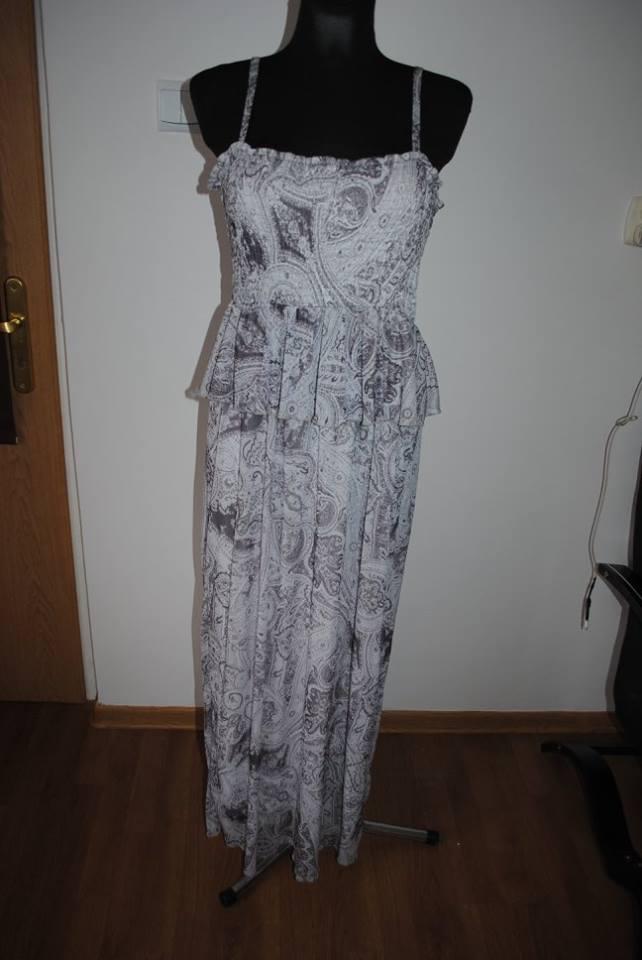 da5a1e94a5 Sukienka maxi H M szarosci r.42 sliczna - 7169754390 - oficjalne ...