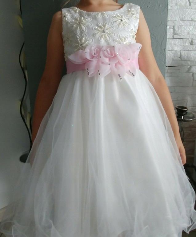 c4d9122ed3 Piękna księżniczka sukienka wizytowa 116 122 - 7440336300 ...