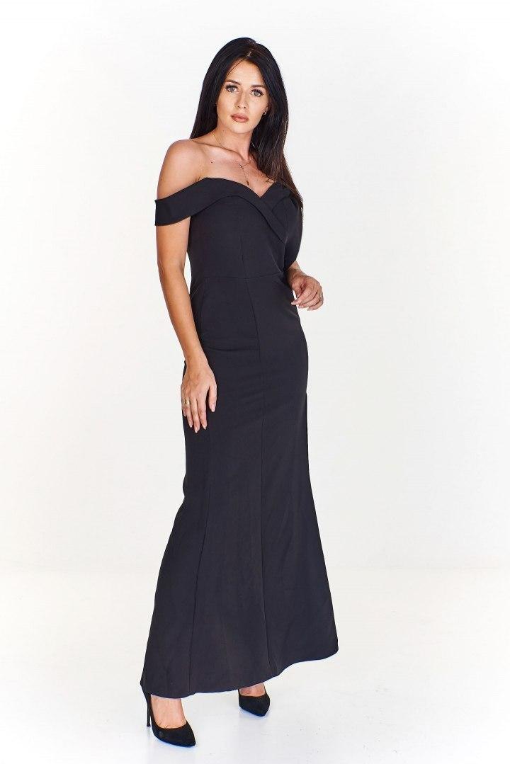 0c0f838981 Dopasowana sukienka maxi z opadającymi ramiączkami - 7589289625 ...