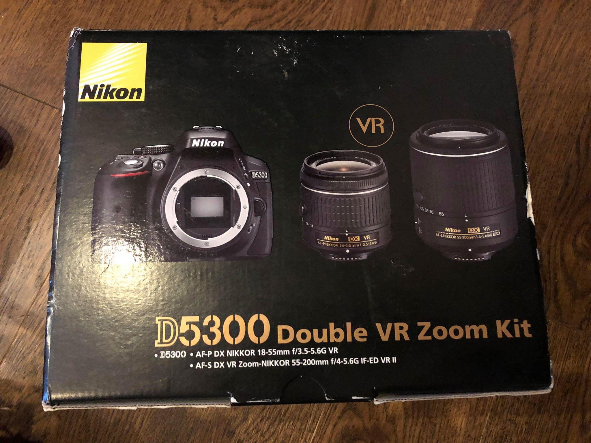 Nowy Nikon D5300 Af P 18 55mm Vr 55 200mm Ii 7281168212 Kit