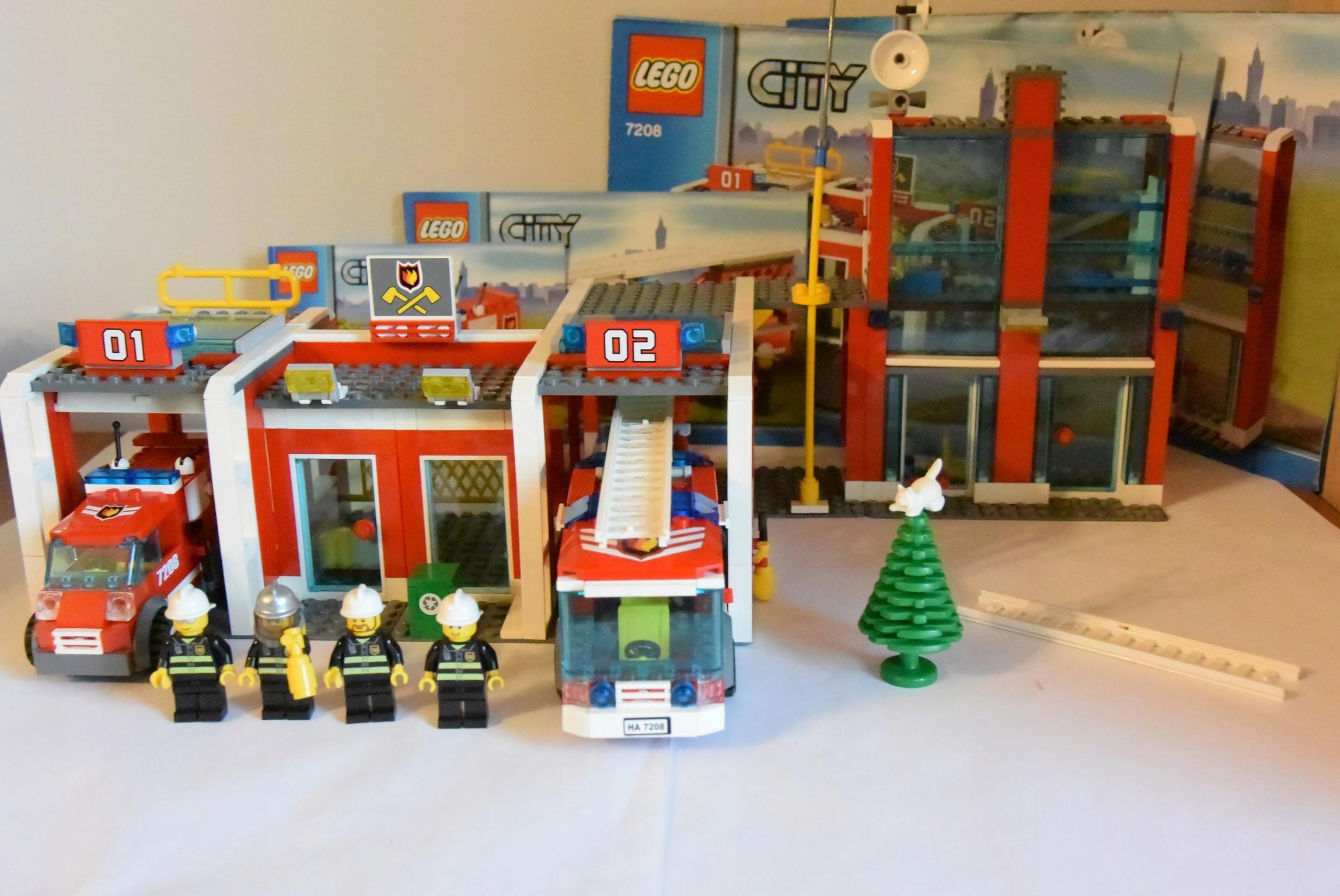 Klocki Lego City 7208 Remiza Straż Pożarna 7391890027 Oficjalne