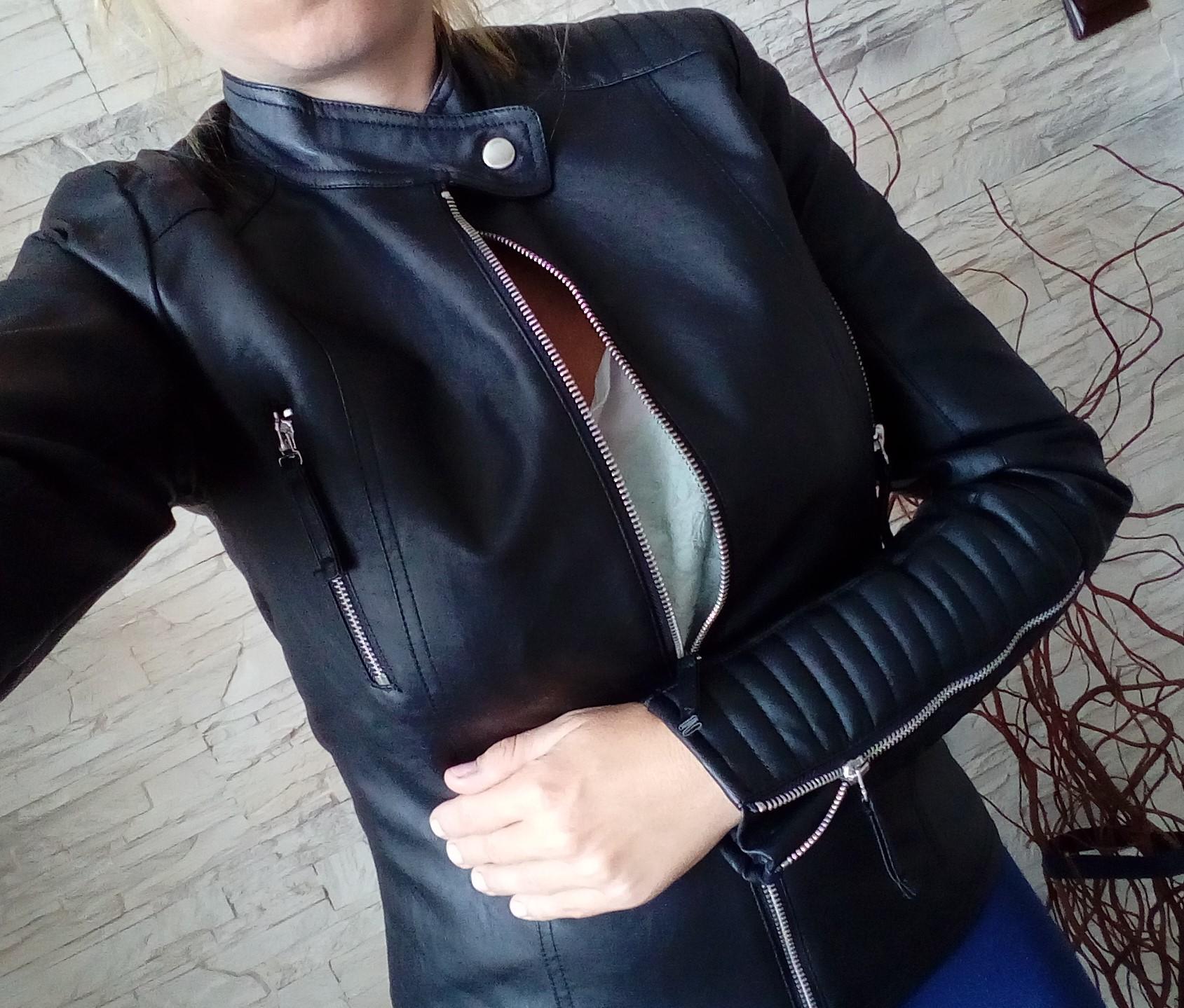 7807e1557d ESMARA czarna ramoneska kurtka eko skóra S zamki - 7418905620 ...