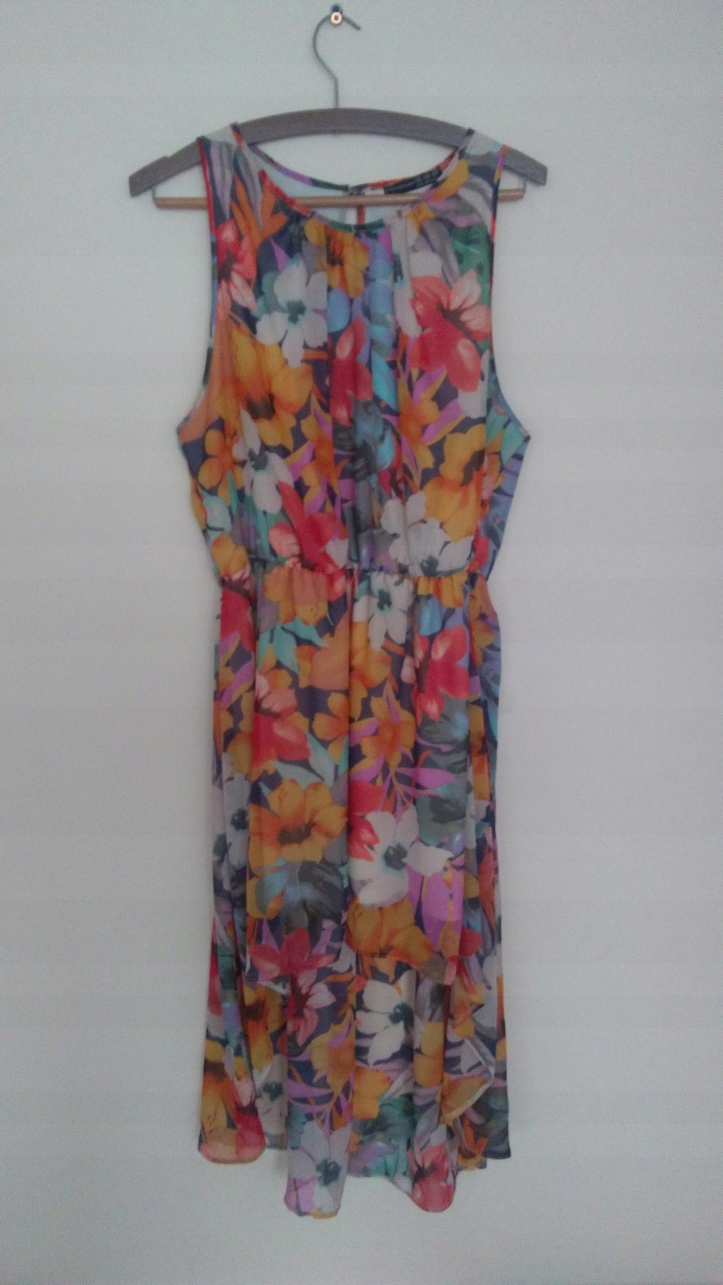 5c1d076ad8 Sukienka maxi mini XL XXL XXXL 42 44 46 r.18 kwiat - 7511303478 ...