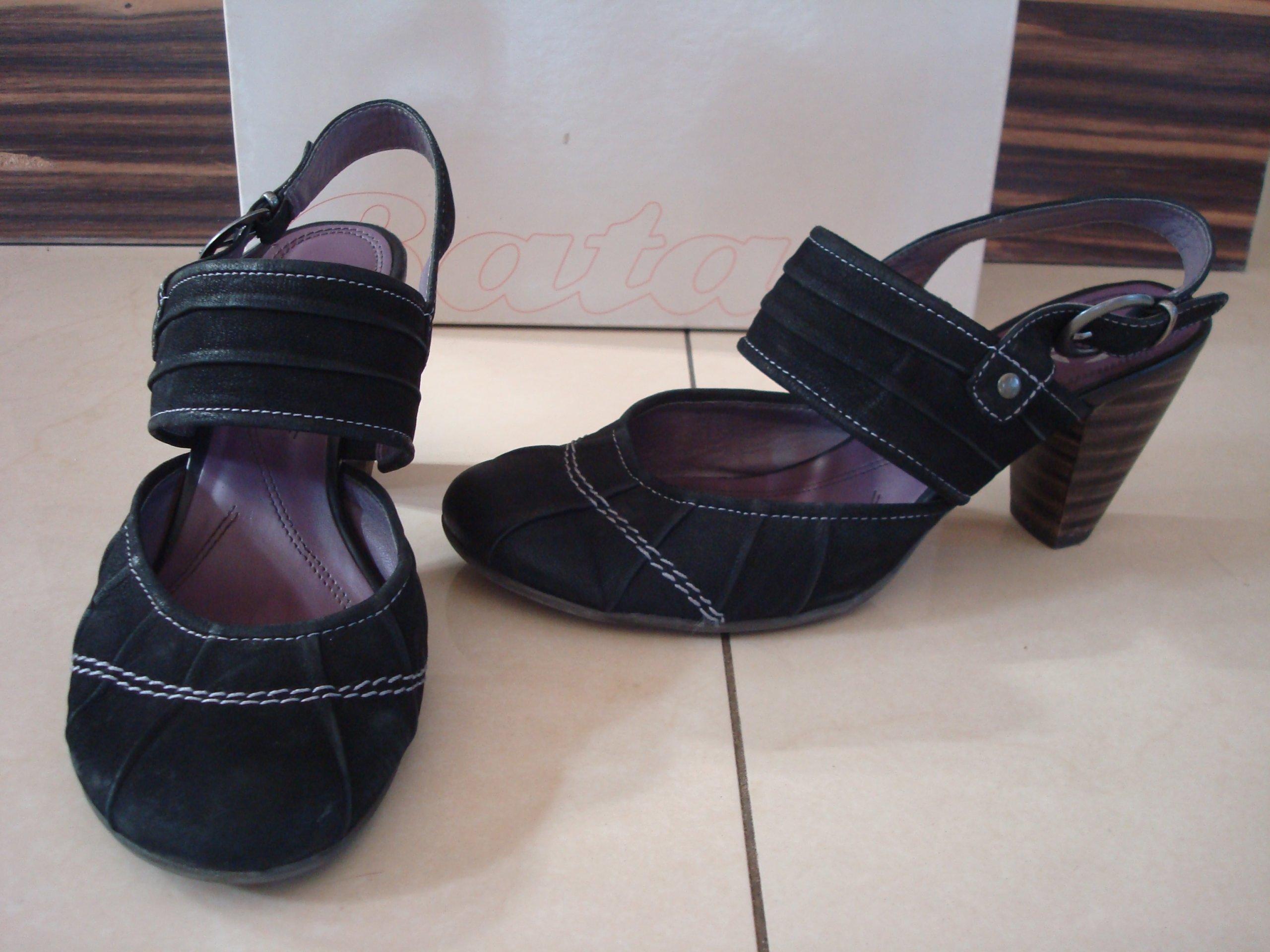 24a0577aa9fb6 Jak nowe skórzane sandały BATA roz. 38 - 7332570642 - oficjalne archiwum  allegro